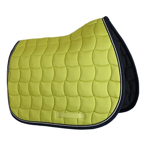 tapis cheval vert pomme tapis de selle pour cheval chantilly harcour pas cher