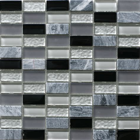 tiles bunnings decor8 tiles 300 x 300 x 8mm grey mix linear mosaic tile