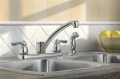 Moen Chateau Kitchen Faucet by Moen 7907 Chateau Two Handle Kitchen Faucet With Side