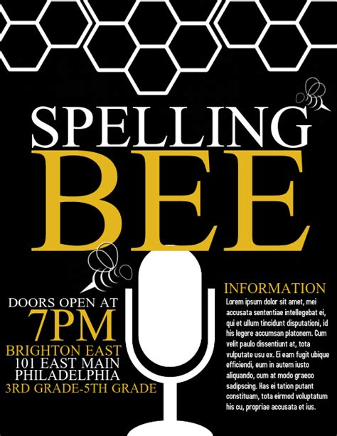 copy  spelling bee postermywall