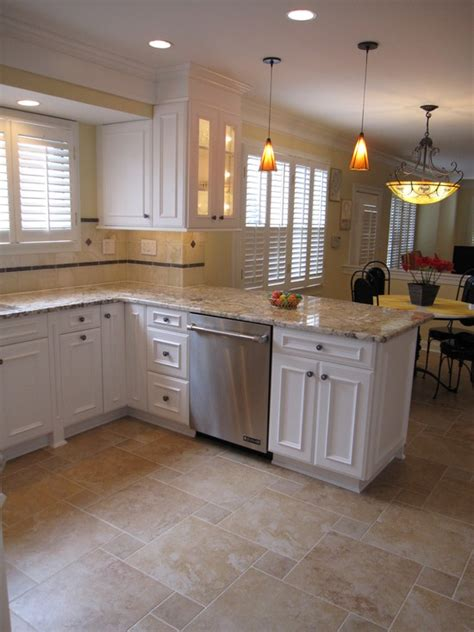 white kitchen with tile floor homeofficedecoration kitchen floor tile ideas with white 1844
