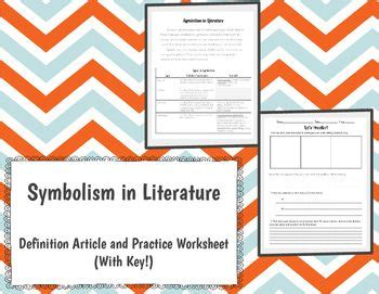 symbolism in literature activity literature activities and teacher pay teachers