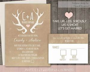 deer antlers rustic wedding invitation set casual 2461380 With free printable deer wedding invitations