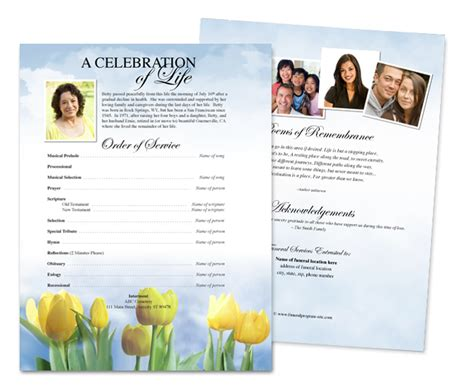Funeral Service Sheet Template by Funeral Flyer Template Professional High Quality Templates