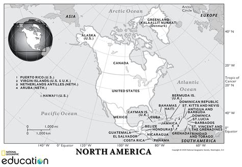 north america physical geography national geographic