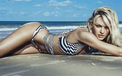 Candice Swanepoel Wallpapers Swimwear Beach Water Sun