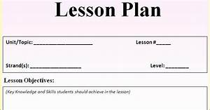 blank lesson plan template a framework for planning With generic lesson plan template