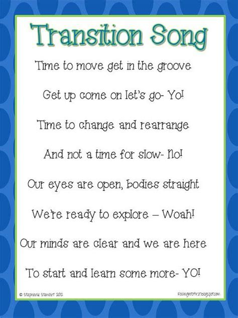 transition song giveaways classroom songs transition