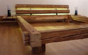 Bett Selber Bauen Holz : bett selber bauen f r ein individuelles schlafzimmer design diy bett mit kopfteil aus holzbalken ~ Markanthonyermac.com Haus und Dekorationen