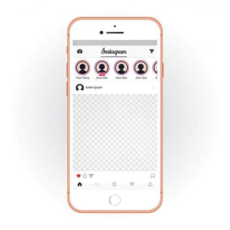 Instagram Mockup Iphone With Mobile Ui Kit Instagram Smartphone Mockup And