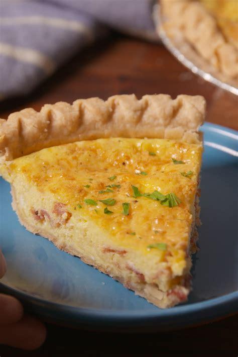 easy breakfast quiche recipes how to make a quiche delish