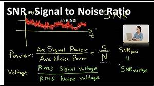 Signal To Noise Ratio Berechnen : what is snr signal to noise ratio in hindi youtube ~ Themetempest.com Abrechnung