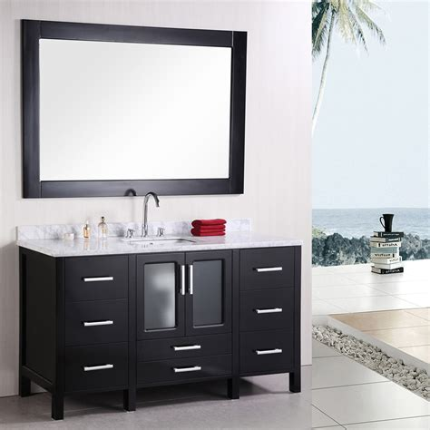 alexander 60 quot single sink vanity set zuri furniture