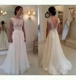 bunte brautkleider new white ivory cap sleeve lace wedding dress bridal gown size 6 18 uk ebay