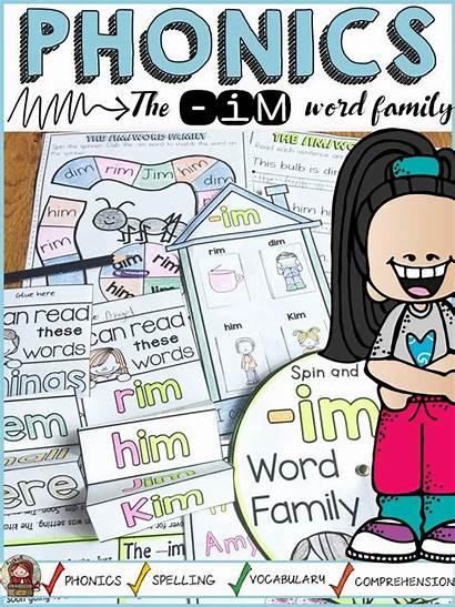 Im Word Short Activities Families Vowel Phonics
