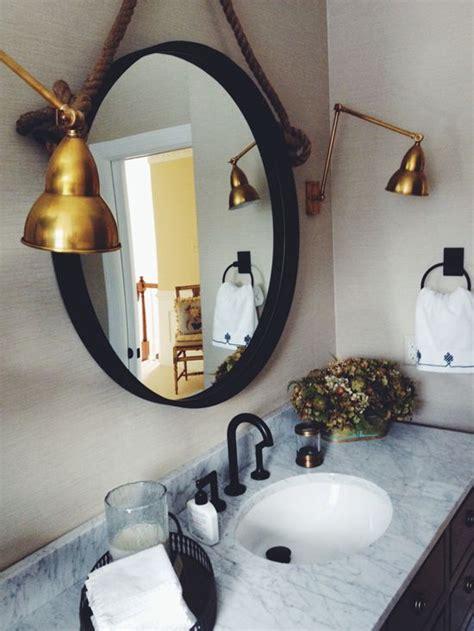 Mirror Sconce Lights by Design Manifest Malvern Bathroom Iron Mirror And