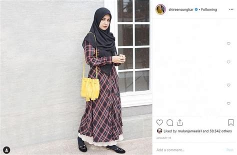 inspirasi fashion hijab syari ala shireen sungkar