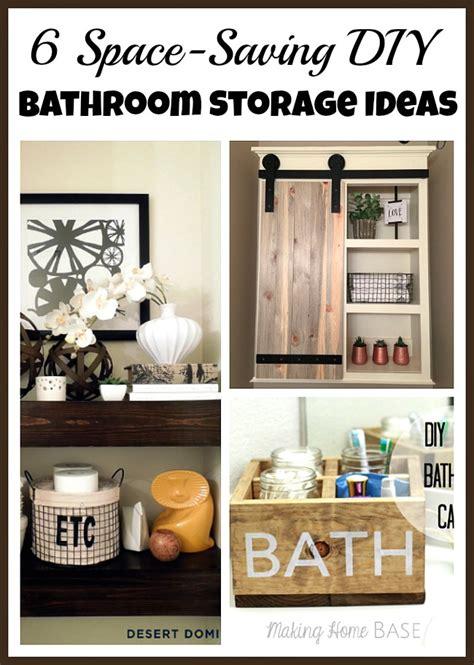 Diy Small Bathroom Storage Ideas by Space Saving Diy Bathroom Storage Ideas