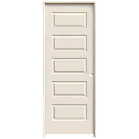 doors interior home depot jeld wen 24 in x 80 in molded smooth 5 panel primed