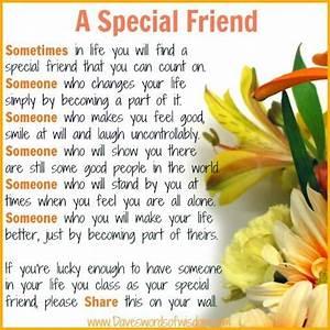 A Special Friend friendship quote hello friend friendship ...