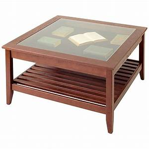 glass top display coffee table square manchester wood With small glass and wood coffee table