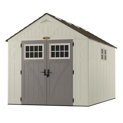 suncast tremont shed extension suncast tremont 13 ft 2 3 4 in x 8 ft 4 1 2 in resin