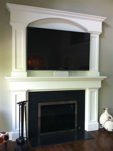 Fireplace With Tv Above by Custom Fireplace Surround Tv Above Fireplace Granite