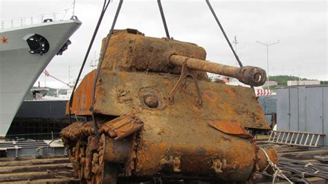 Boat Salvage Tv Show by U S Tank Salvaged From Wreck Of Cargo Ship Nbc News