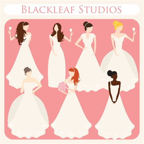 wedding present registry bridal shower silhouette clip 44