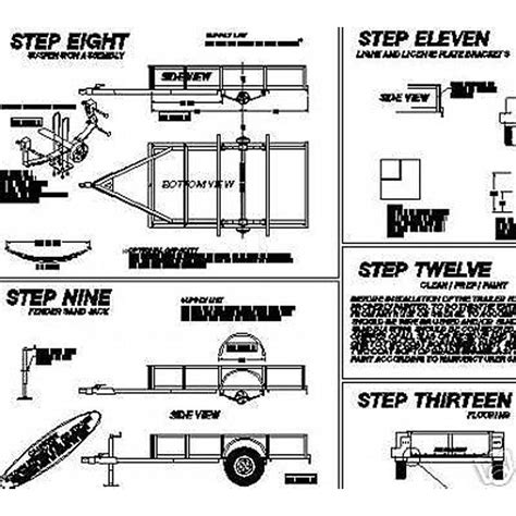 Boat Trailer Parts Tucson by Utility Trailer Blue Prints