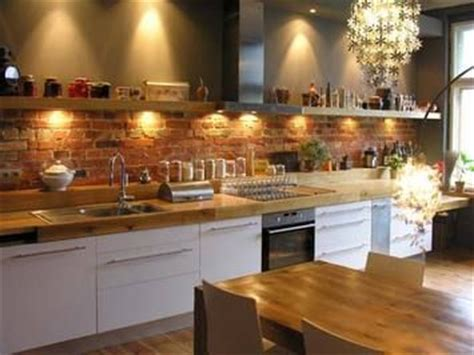 wood countertop wbrick backsplash kitchen backsplash