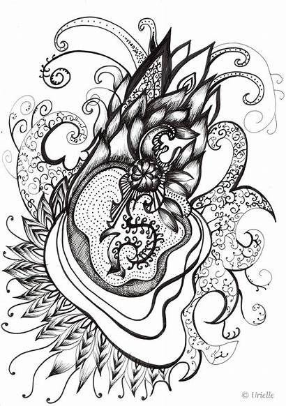 Heart Coloring Stress Pages Adult Adults Zen