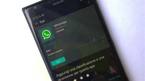 whatsapp ha smesso di aggiornare anche l app per windows phone 8 1