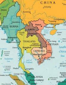 South and Southeast Asia Pacific Map
