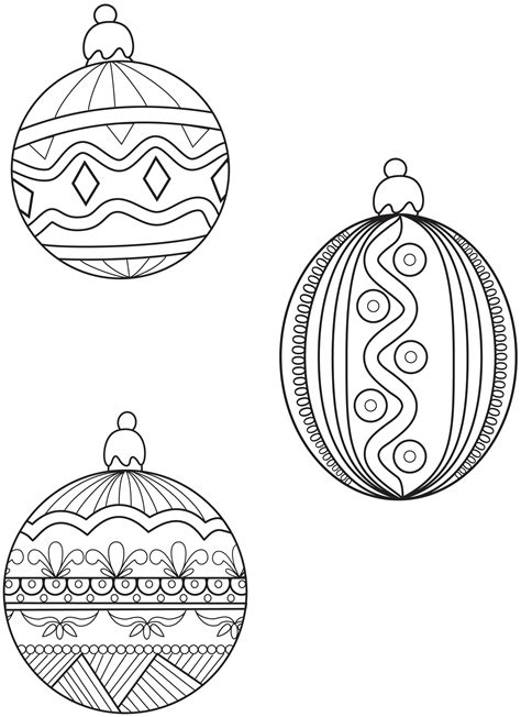 ornament coloring pages    print