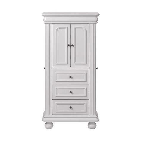White Jewelry Armoire by Home Decorators Collection Genevieve White Jewelry Armoire