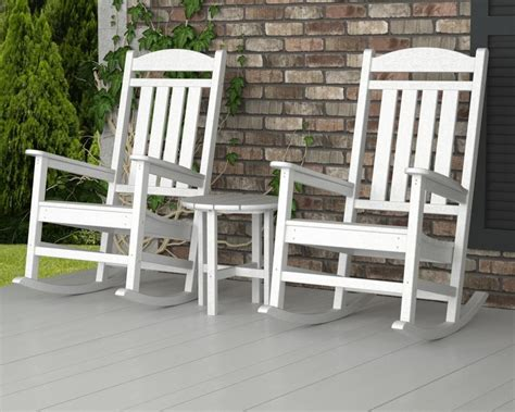 polywood presidential 3 outdoor rocking chair set
