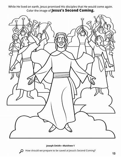 Coloring Coming Second Christ Jesus Return Lds