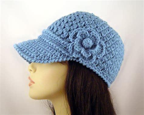 crochet baseball cap  flower  craftsy