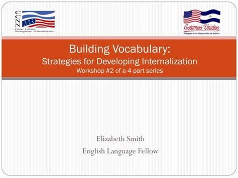 Ppt  Building Vocabulary Strategies For Developing Internalization Workshop #2 Of A 4 Part