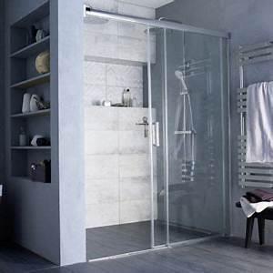 porte de douche coulissante loft ii 160 cm castorama With porte coulissante douche 160