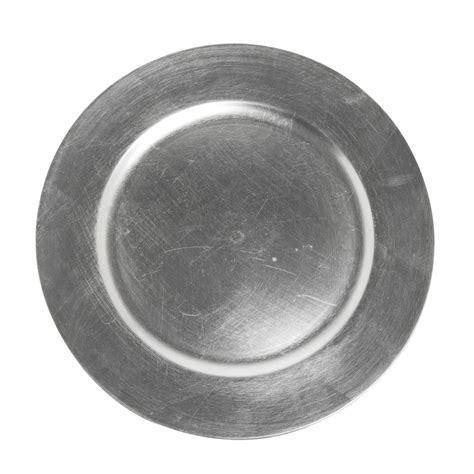 jay companies silver polypropylene plain charger plate