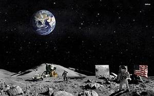 Astronauts On the Moon - Pics about space
