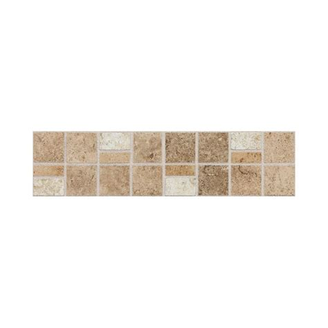 home depot flooring porcelain tiles daltile fidenza universal 3 in x 12 in glazed porcelain accent floor and wall tile