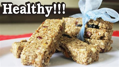 healthy snacks to make how to make healthy snack bar recipe youtube