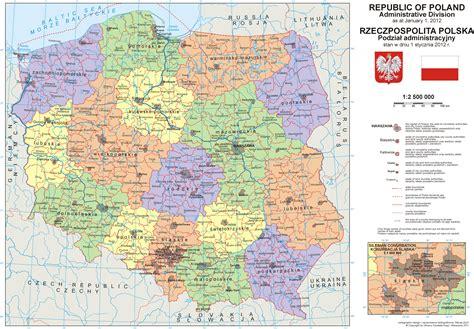 maps  poland detailed map  poland  english