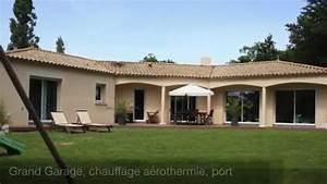 maison contemporaine de plain pied de 2009 youtube With maison toit plat en l 2 maison neuve toit plat