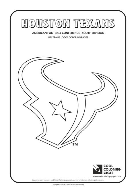 Houston Texans Logo Template by Houston Texans Coloring Pages Coloring Pages