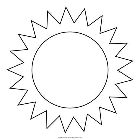 Dibujos Del Sol Para Colorear Sketch Coloring Page