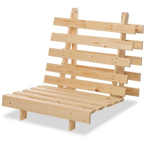 single futon frame metro pine wooden folding guest futon frame